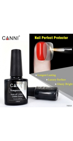 Top Coat No Wipe TEMPERED  Canni 7.3ML