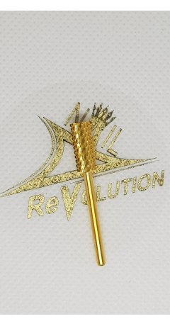 Capat freza Cilindric Auriu - Nail Revolution