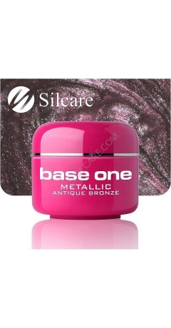 Gel UV Color Base One Silcare Metalic - Antique Bronze