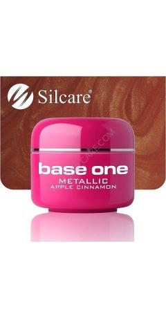 Gel UV Color Base One Silcare Metalic - Apple Cinnamon