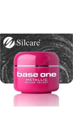 Gel UV Color Base One Silcare Metalic - Black Velvet