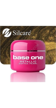 Gel UV Color Base One Silcare Metalic - Coffee Pearl