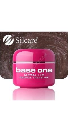 Gel UV Color Base One Silcare Metalic - Bronze Treasure
