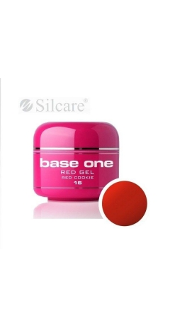 Gel UV Color Base One Silcare Red 5 ml - Red Cookie