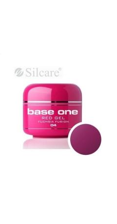 Gel UV Color Base One Silcare Red 5 ml - Fuchsia Fusion