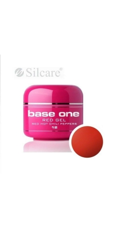 Gel UV Color Base One Silcare Red 5 ml - Red Hot Chili Peppers